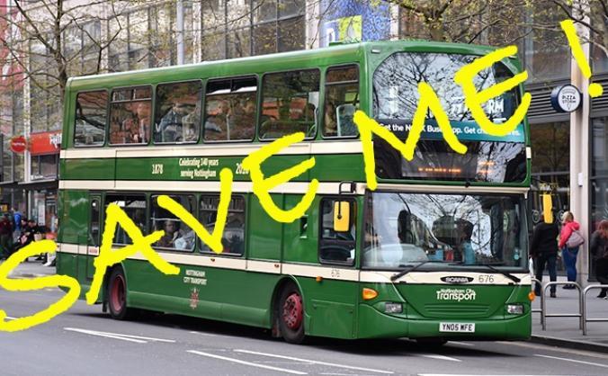Save Nottingham City Transport Heritage bus
