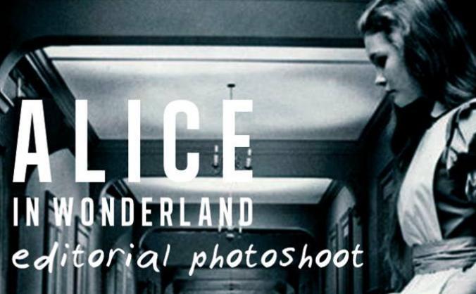 'Alice in Wonderland' High Fashion Editorial Book.