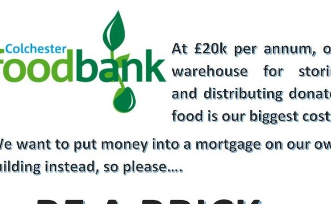 Colchester Foodbank Food HQ new premises fund
