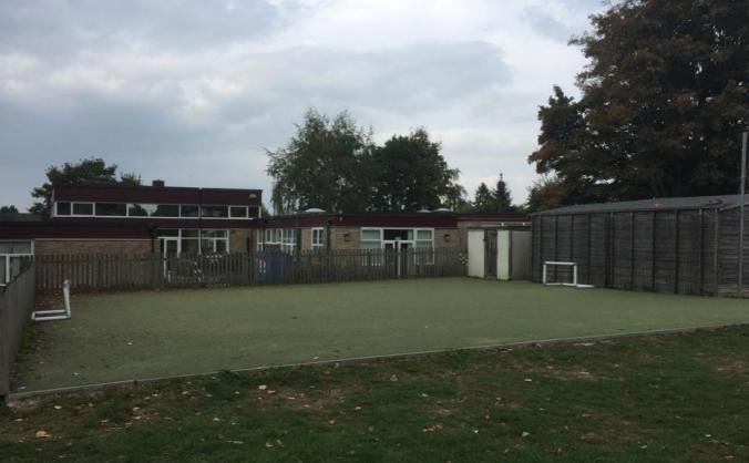 A new all-weather pitch and sports equipment