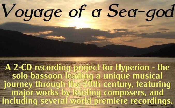 'Voyage of a Sea-god' recording project