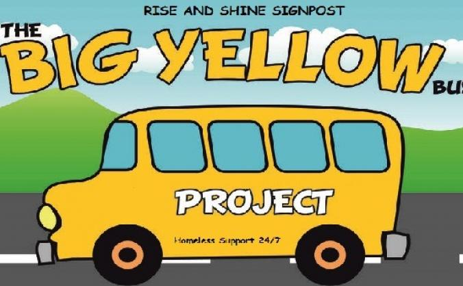 Rise And Shine Signpost The Big Yellow Bus Project