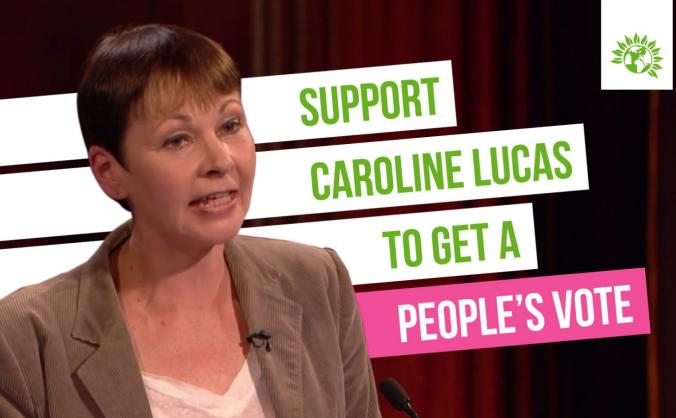 Support Caroline Lucas to get a People's Vote