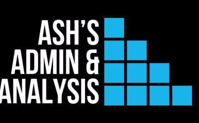 Ash's Admin & Analysis start up fund