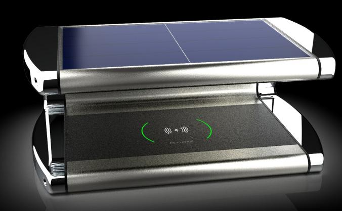 World First Solar Powered wireless phone charger