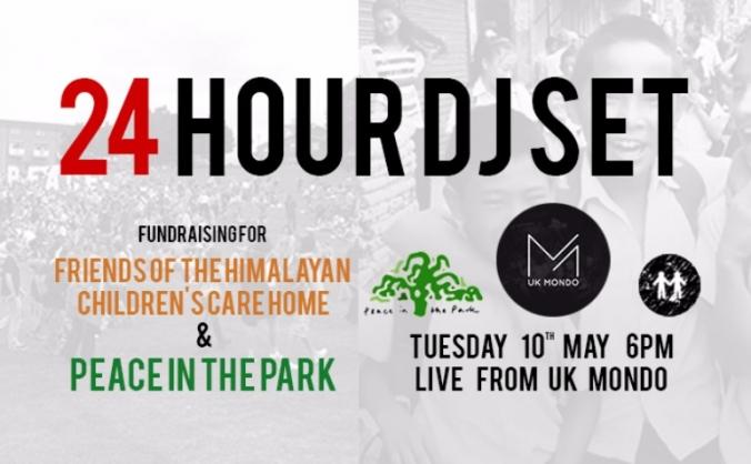 24 Hour DJ Set: Fundraiser for PITP & FOHCCH