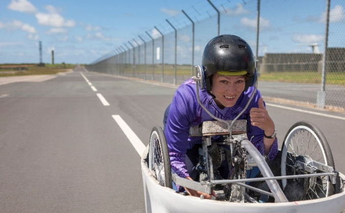Project Nevada - world hand-cycling speed record
