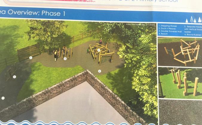 Barlow school playground and equipment