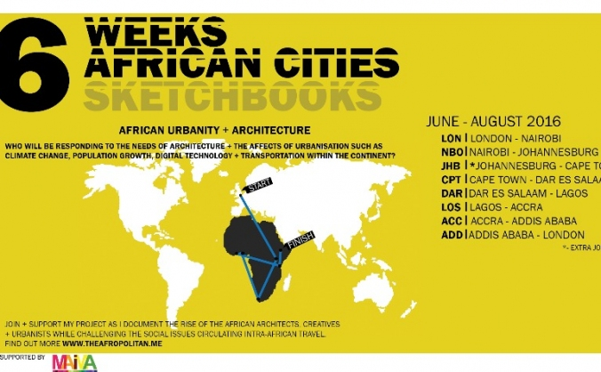 6 Weeks, 6 African Cities, 6 Sketchbooks