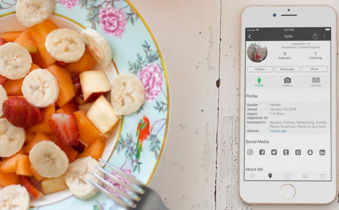 VSocial social network for vegans & vegetarians