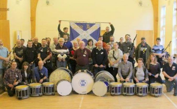 Yes movements Pipe Band help us get on the road!