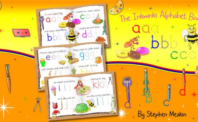 Help The Inkwinks Alphabet Book get into print