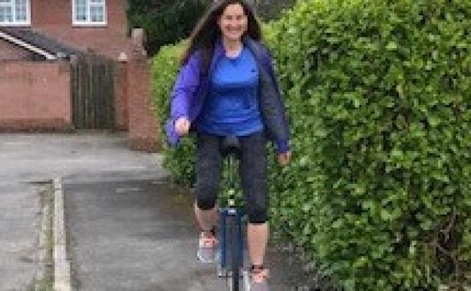 Unicycle ride for Weymouth Hockey Club