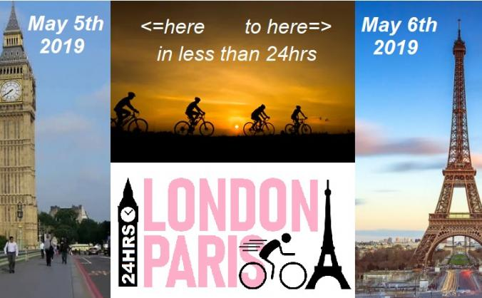 Cycle London-Paris in 24hrs for Family Space
