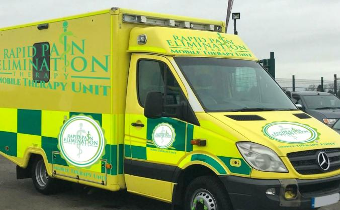 Rapid Pain Elimination Therapy Mobile Units