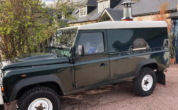 Help 'Auld Smokey'our Woodfired Landrover Defender