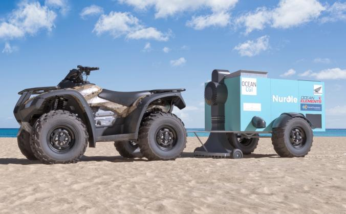 We're building a machine to remove beached plastic