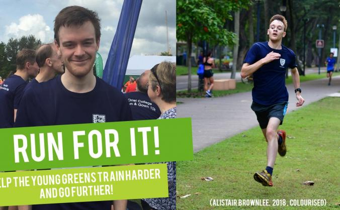 I'm running to help train Young Greens!