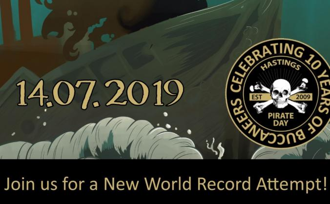 Hastings Pirate Day 2019 World Record Attempt