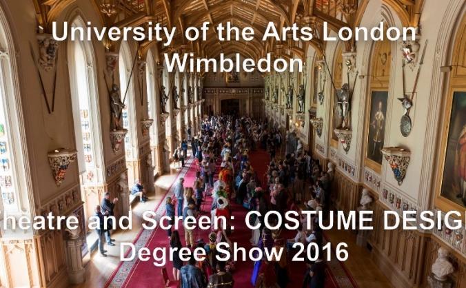 Costume Design: Theatre and Screen WCA Degree Show