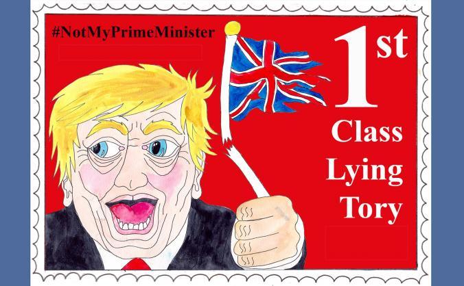Boris Johnson Liar Stamp Stickers