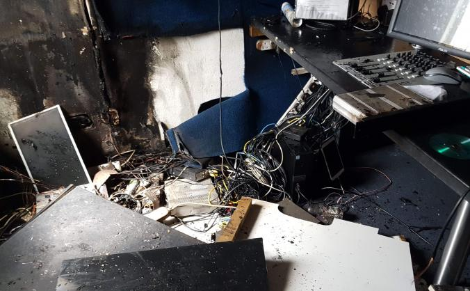 Help rebuild BCfm's studio after devastating fire