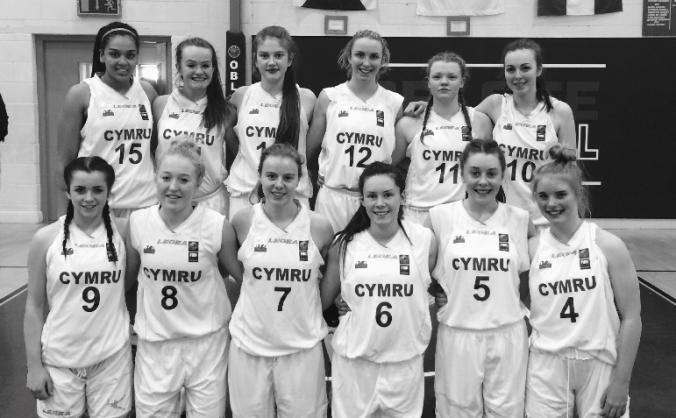 U18s Womens Welsh Basketball Team