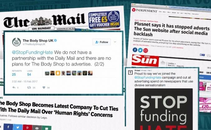 Hate is surging. Let's #StopFundingHate nationwide