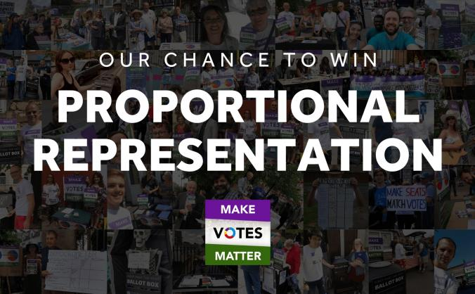 Our chance to win Proportional Representation