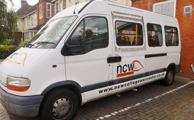 New Minibus for New College Worcester