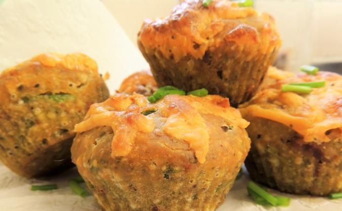 Vegetarian/vegan gluten free savoury muffins.