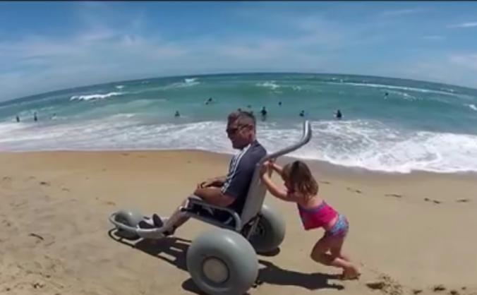 Beach wheelchairs for the disabled in Exmouth