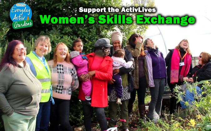 Women's Skills Exchange at urban Community Garden