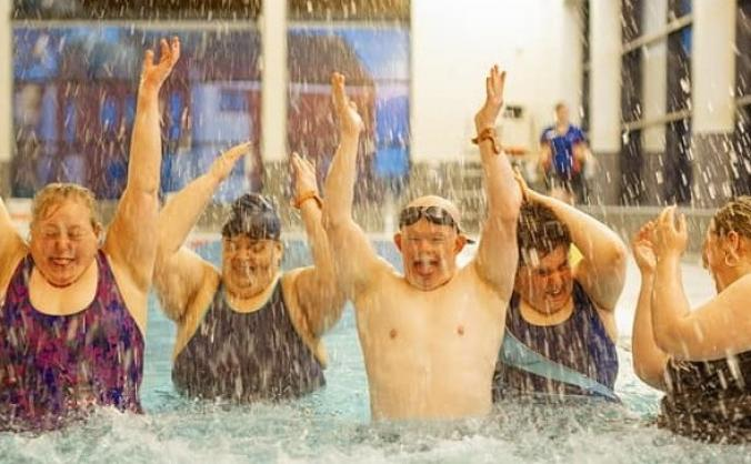 'GO FOR GOLD' Special Olympics Sandwell Swimmers.