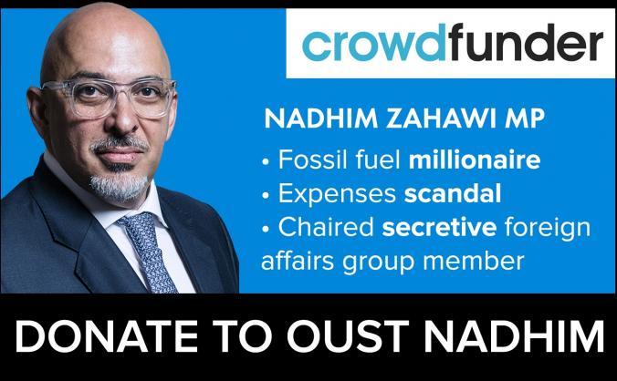 Let's oust Stratford MP Nadhim Zahawi