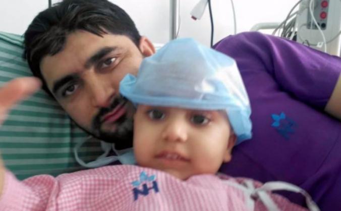 Arsalan underwent an emergency transplant