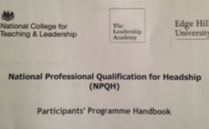 National Professional Qualfication for Headship
