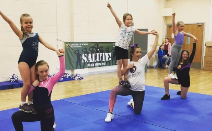 Cheerleaders Tumble to Success