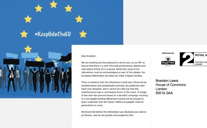 Send a Pro-EU Postcard to every MP!