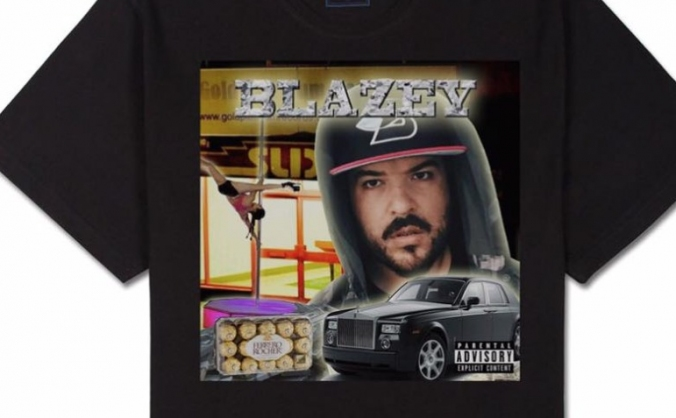 Blazey - star of stage, meme and now... T-shirt