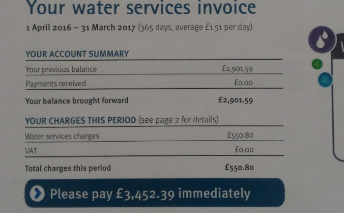 Help 45/R with unfair water bills