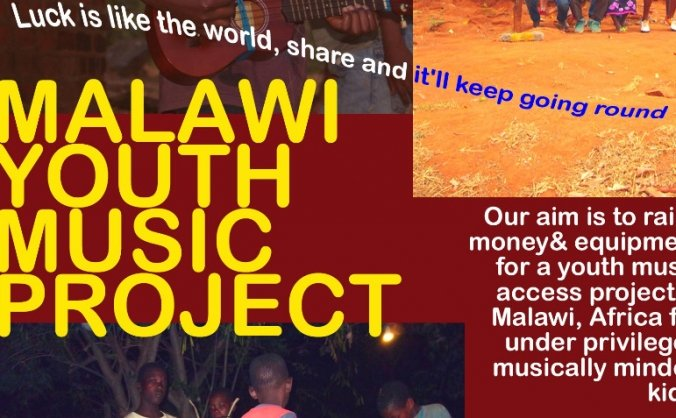 Malawi youth music project. Laptops + training