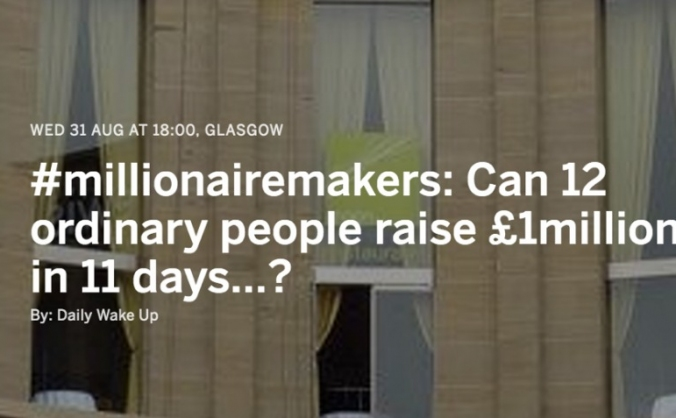 Can 12 ordinary people raise £1million in 11days?