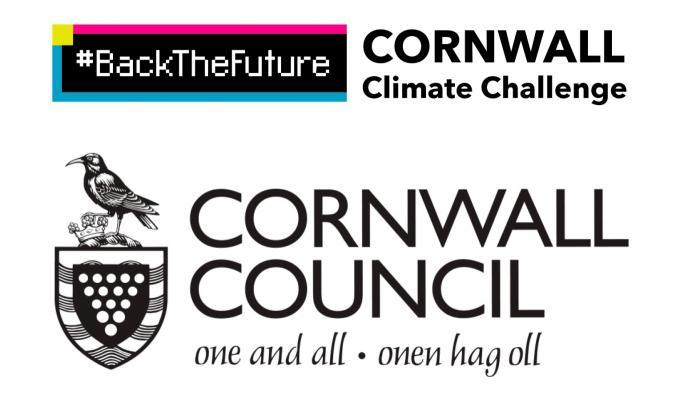 #BackTheFuture Cornwall Climate Challenge logo