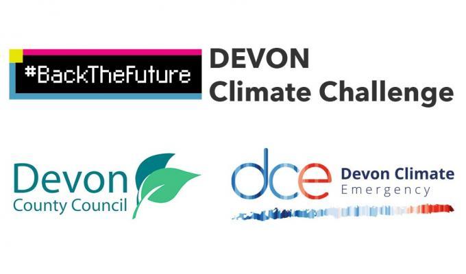 #BackTheFuture Devon Climate Challenge logo