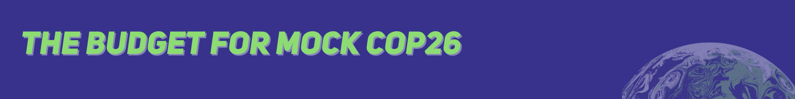 The budget for Mock COP26