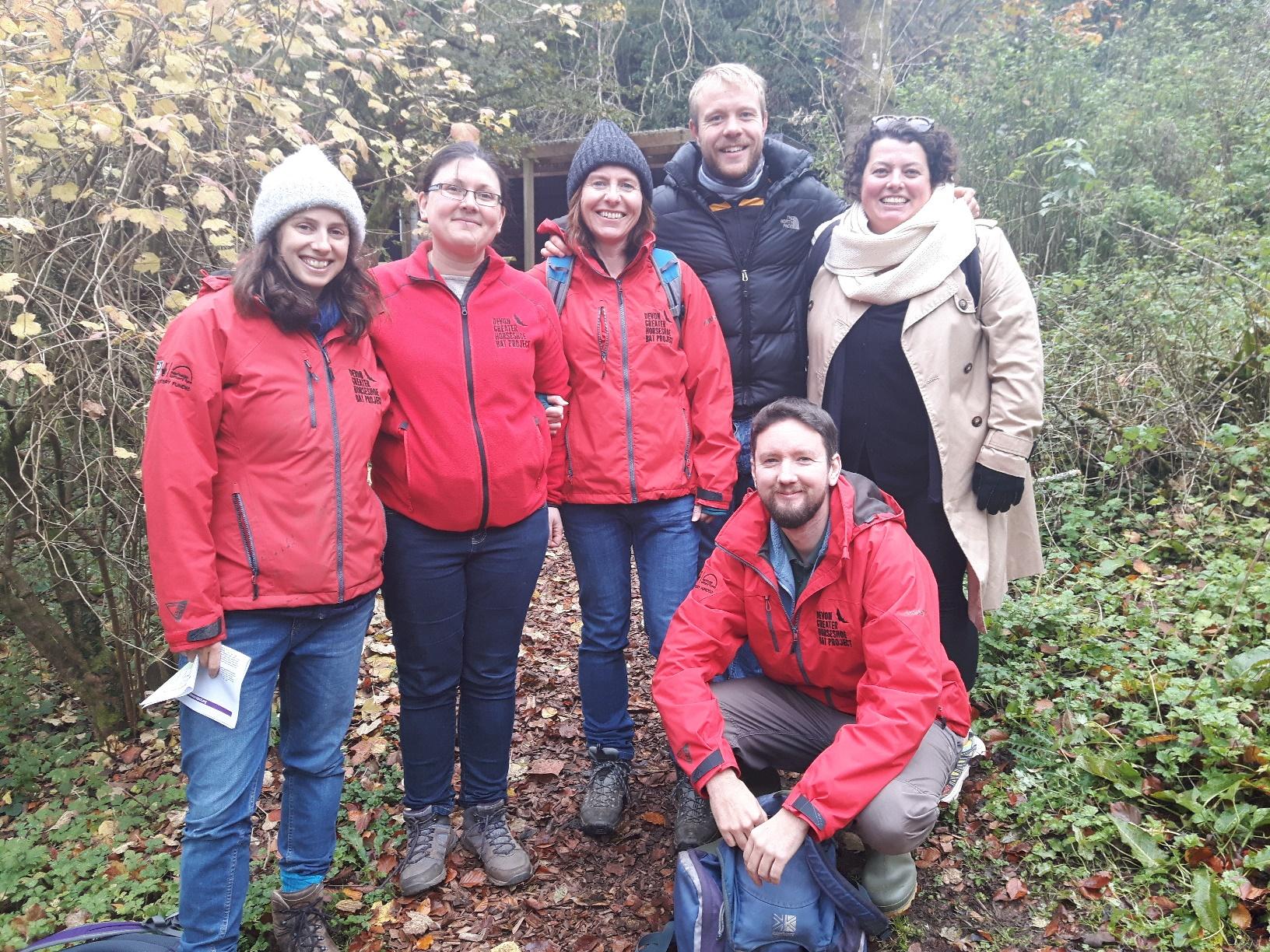 Team Bat: (L-R) Anna, Land Advisor; Ruth, Project Manager; Helen, Community Officer; Finch, PhD researcher; Mike, Land Advisor; Lizzie, Community Contractor