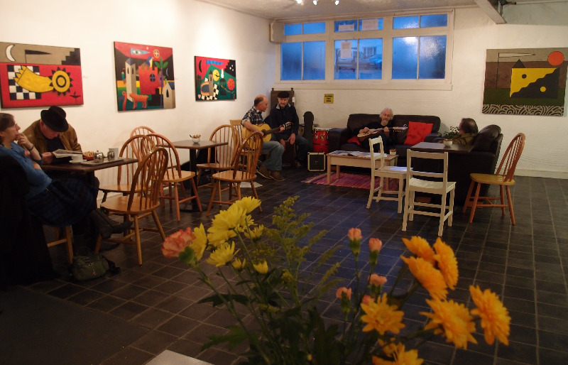 The ground floor gallery and cafe