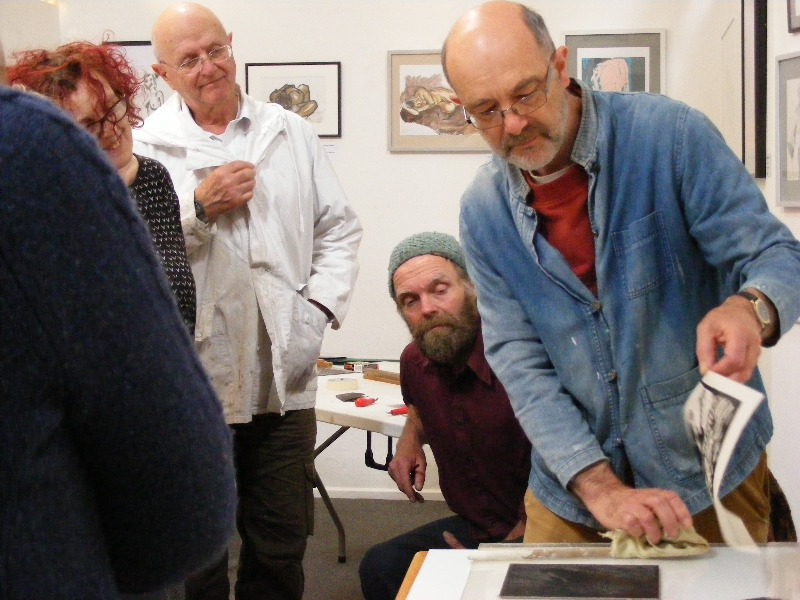 A printmaking workshop