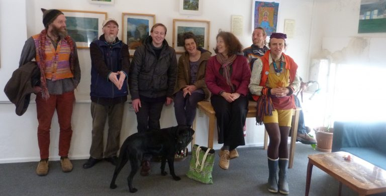 Roaming art group at their exhibition at Redwing.
